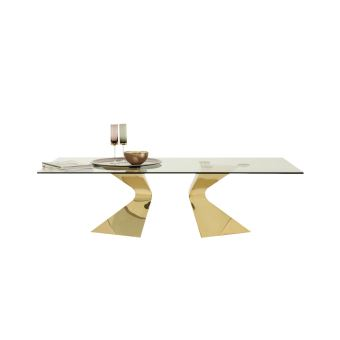 Table Kare Basse Dorée PrixFnac Gloria 140x82cm Design Achatamp; A34RjL5