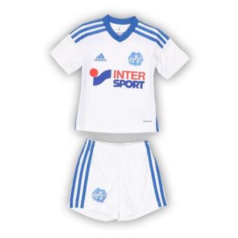 adidas olympique de marseille blanc bleu taille 3 4 ans mini ensemble t shirt short enfant. Black Bedroom Furniture Sets. Home Design Ideas