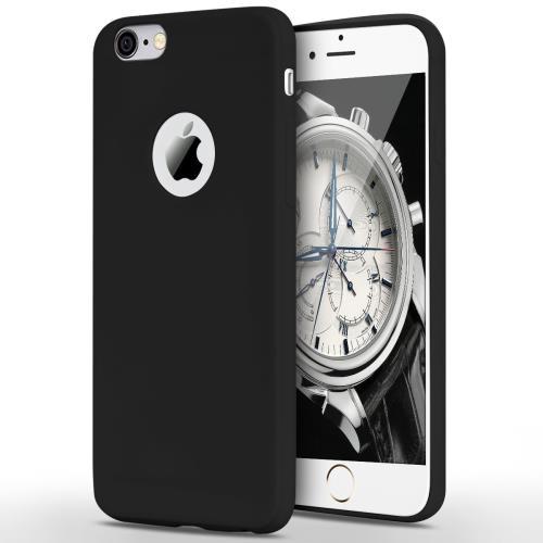 CABLING Coque iPhone 6 6s Noir Mat Houe de Protection Slim Case Pour Apple iPhone 6