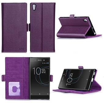 Sony xperia l1 housse portefeuille luxe violette cuir for Housse xperia l1