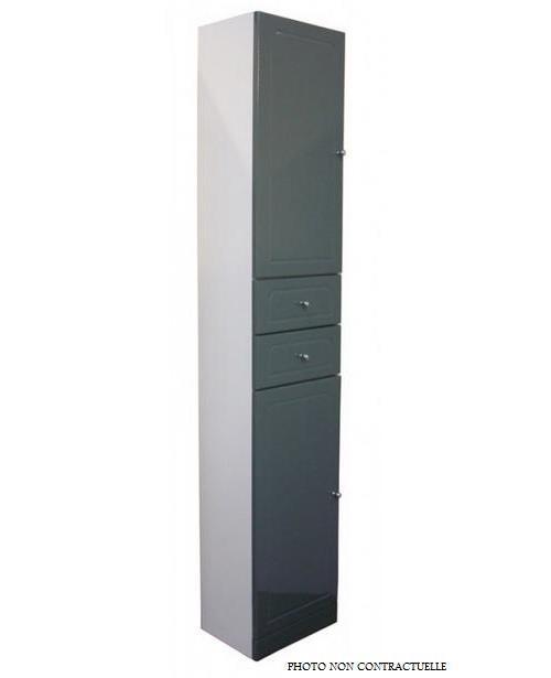 Aqua+ - Colonne salle de bain taupe à poser Haut. 188cm - TOLEDE