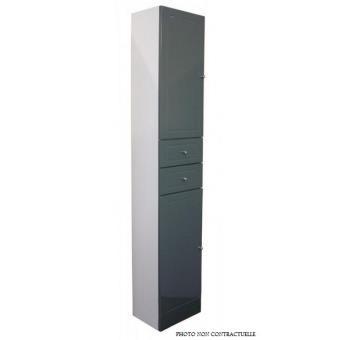 Aqua+ - Colonne salle de bain taupe à poser Haut. 188cm - TOLEDE ...