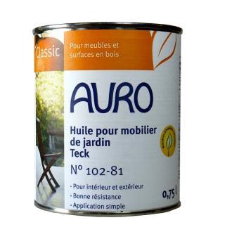 Auro Huile Pour Mobilier De Jardin Teck 0 75l N 102