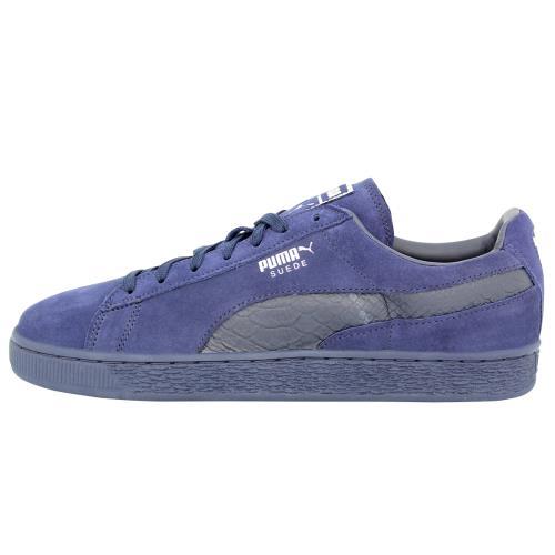 chaussures de séparation 8a34f d8e0e Puma SUEDE CLASSIC MONO REPTILE-U Chaussures Mode Sneakers Homme Cuir Suede  Bleu