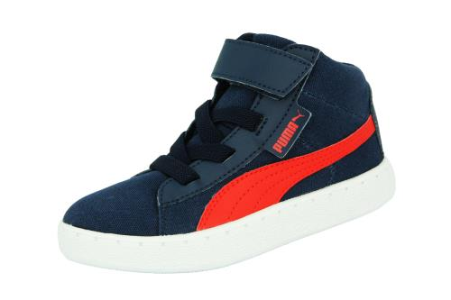 Puma kds puma 48 mid cv <strong>chaussures</strong> sneakers mode enfant bebe toile canvas bleu rouge