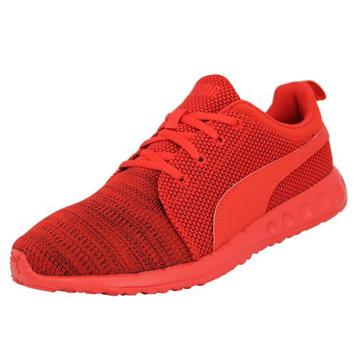Puma carson camo knit <strong>chaussures</strong> mode sneakers homme rouge