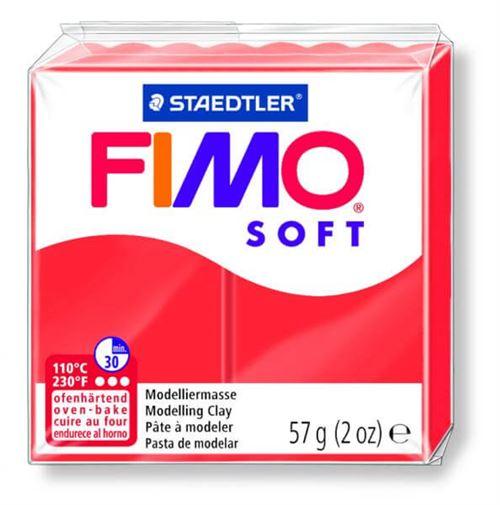 Pâte Fimo soft Rouge Indien 24 - 56 gr