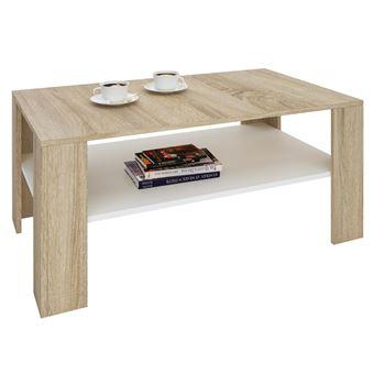 1 rangement mélaminé LORIENTtable salon étagère Table ouverten de espace basse chêne sonoma blanc et rectangulaire décor avec de P8nym0OvNw