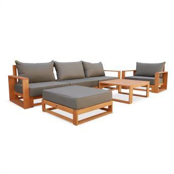 salon de jardin selva en bois anthracite alice s garden mobilier de jardin achat prix fnac. Black Bedroom Furniture Sets. Home Design Ideas