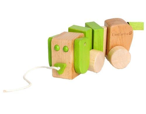 Everearth Corde en bois pour chien de trait 18 cm vert junior