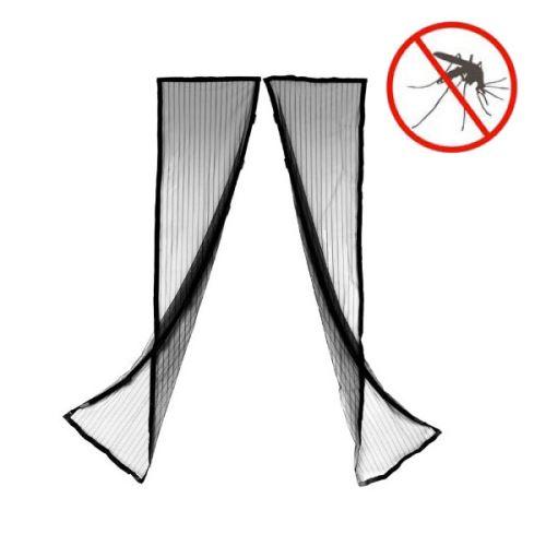 SHOP-STORY - Moustiquaire Magnétique Anti Insectes pour Porte Fenêtre Avec Fermeture Aimanté 9 Aimants par Rideau Magneto Mesh