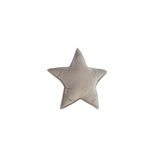 Coussin forme étoile - 49 x 49 cm - Gris