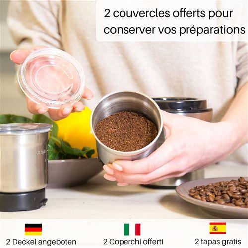 Veohome Moulin à Café Et épices 2 En 1 électrique
