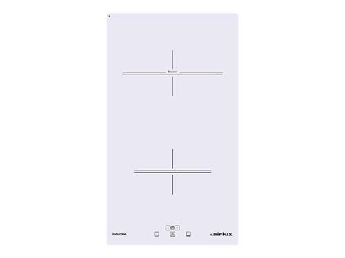 Airlux ATI322BK - Table de cuisson à induction - 2 plaques de cuisson - Niche - largeur : 27 cm - profondeur : 49 cm - noir