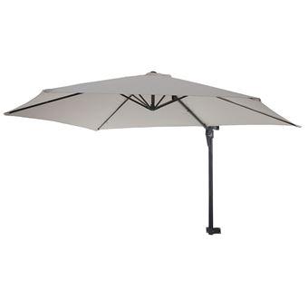 Parasol De Mur Casoria Parasol Déporté Pour Balcon Ou Terrasse 3m Inclinable Sable