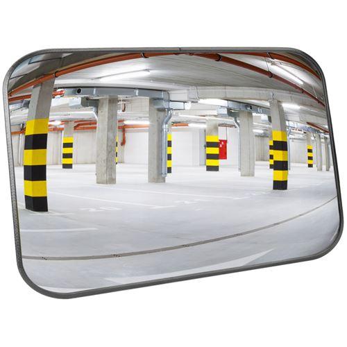 Miroir convexe de signalisation de sécurité de forme rectangulaire 60x40 cm
