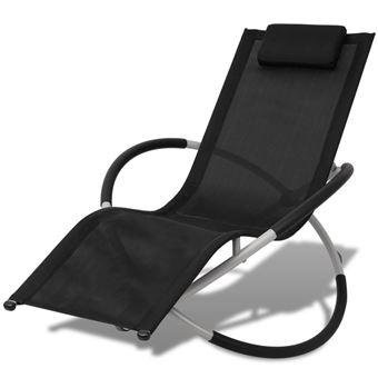 vidaxl meubles de jardin chaise longue bain de soleil transat chaise longue relax plage acier mobilier de jardin achat prix fnac - Chaise Longue Relax