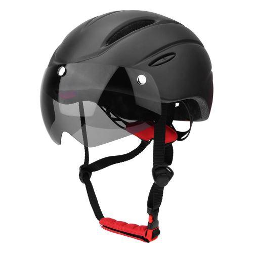 noir Casque De Vélo De Montagne Avec Visière Magnétique Pour Sport De Cyclisme