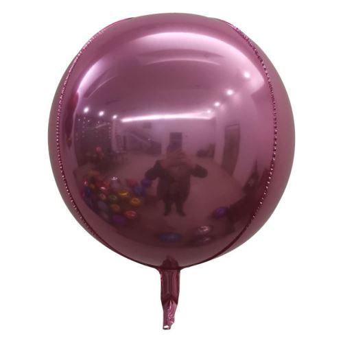 10 pcs Ballons en Aluminium 15 Pouces pour Noël Soirée Maison Jardin Fete Mariage - Rose