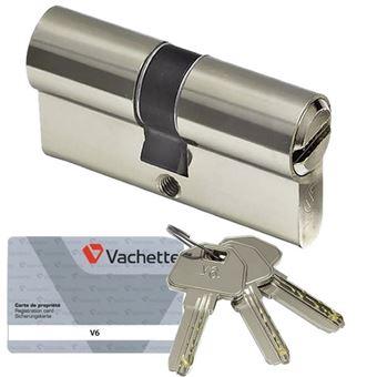 Cylindre de s curit vachette v6 barillet 30 x 40 pour serrure de porte accessoires pour - Canon de porte ...