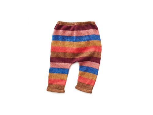 Oeuf Baby Clothes - Pantalon rayé multicolore Alpaga 12M