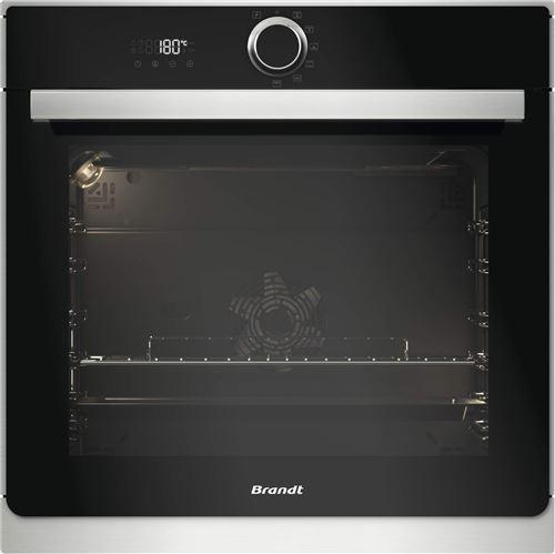 Brandt BXP6332X - Four - intégrable - niche - largeur : 56 cm - profondeur : 55 cm - hauteur : 58.5 cm - avec système auto-nettoyant - classe A+ - acier inoxydable