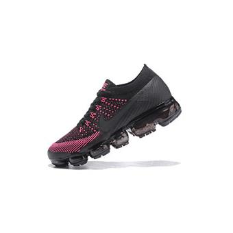 baskets nike air vapormax flyknit chaussure de running femme noir et rose taille 39 chaussures. Black Bedroom Furniture Sets. Home Design Ideas