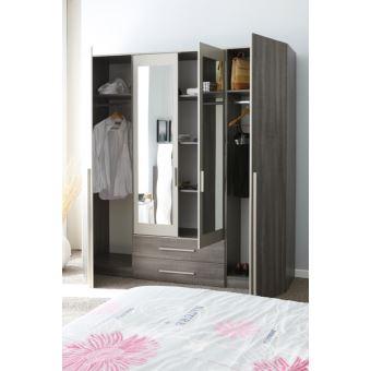 Armoire 4 portes ALICIA - Achat & prix | fnac