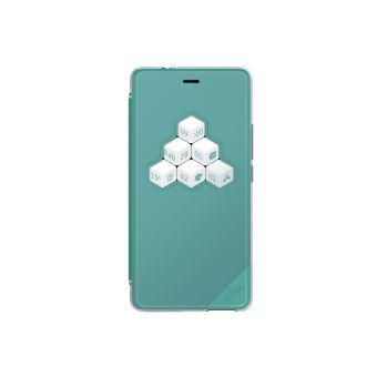 Wiko Smart Folio WiCUBE - Coque de protection pour téléphone portable - mélange de bleu et de vert - pour Wiko TOMMY 2
