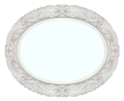 Miroir ovale blanc Moonlight