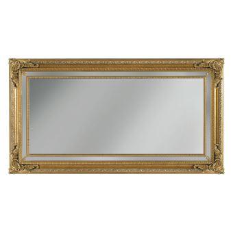 Miroir mural rectangulaire ornements en bois Achat & prix