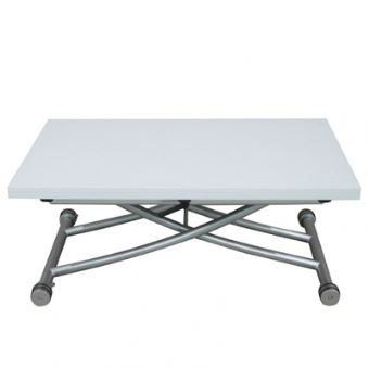 Table Basse Relevable Clever Xl Blanc