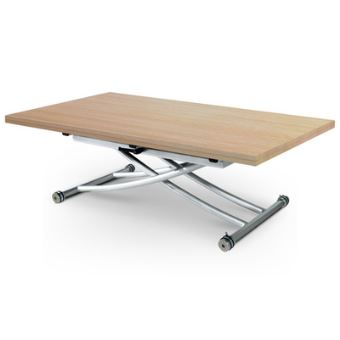 Table Basse Relevable Clever Xl Chêne Clair