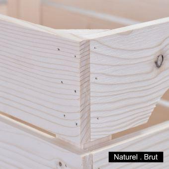Table De Chevet Bois Naturel Avec Tablette 1stab Achat Prix Fnac
