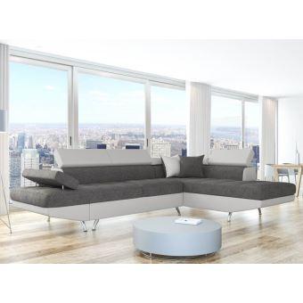 430€ sur Canapé d\'Angle Droit Convertible avec coffre bi-matière ...