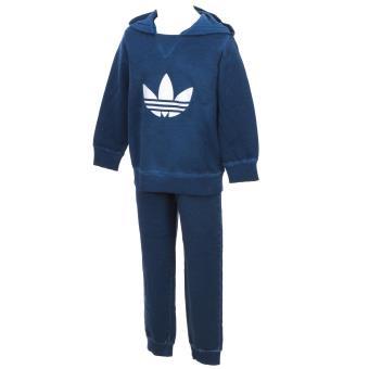4a3bb557276a7 Survêtement ensemble Adidas I tery hood set Bleu Taille 2 3 ans Bébé Mixte  - Survêtements et ensembles de sport - Achat   prix