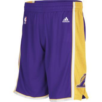 Adulte amp; prix Lakers NBA Adidas Swingman Angeles Short fnac Achat Homme Los S6WqZYO