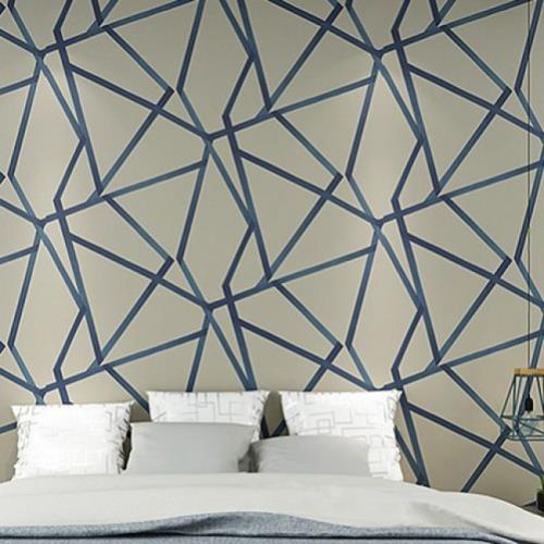 Papier Peint Geometrique Design Moderne Pour La Decoration Du Salon