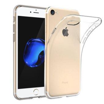 BPFY - Coque Silicone TRANSPARENTE Pour Iphone 7/8 Apple avec Vitre de protection OFFERTE - Protection arriere anti-choc - Etui en silicone TPU souple ...