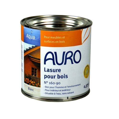 Auro - Lasure pour bois diluable (Blanc) 0,375L - N°160-90