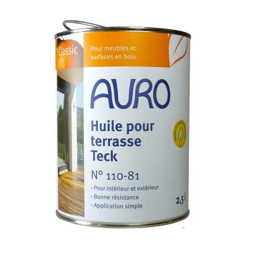 Auro - Huile pour Terrasse (Teck) 2,5l - N° 110-8