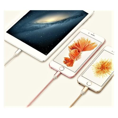Shot Case Cable Metal Nylon pour IPHONE 6 Apple Chargeur