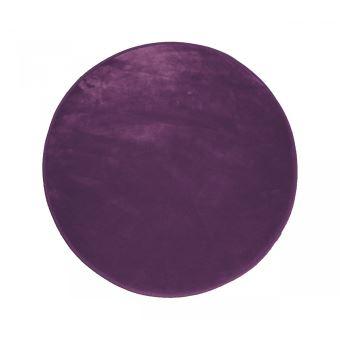 9€ sur Tapis rond prune velours louna 90 cm - Achat & prix | fnac