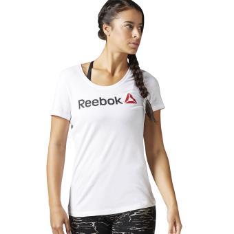 best service 063f1 4c3c9 Reebok T-shirt Scoop Neck blanc Taille S Adulte Femme - Hauts, T-shirts et  débardeurs de sport - Achat   prix   fnac