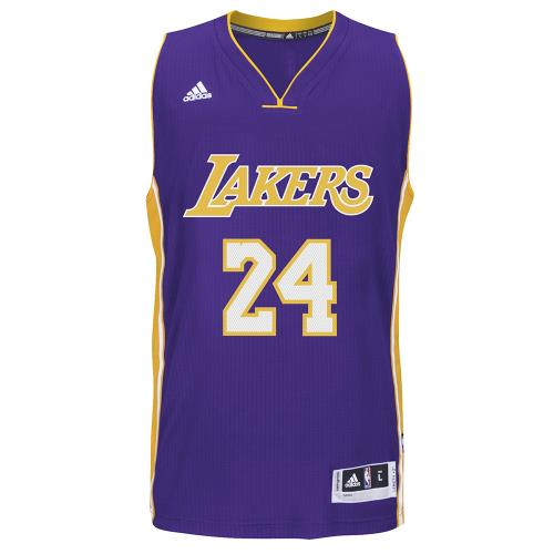 Adidas NBA Los Angeles Lakers #24 Kobe Bryant Violet S