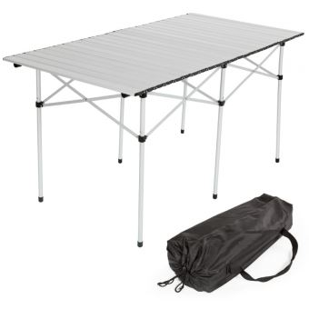 Table De Camping Jardin Pique Nique Aluminium Pliante 140x70 Cm Sac Helloshop26 2008034