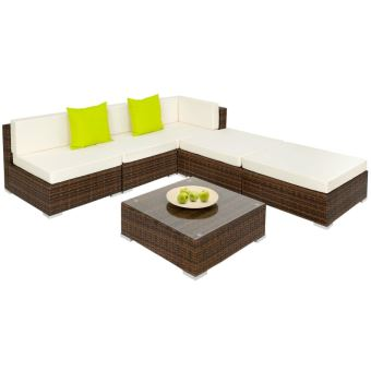salon de jardin rotin r sine tress synth tique marron 6 pi ces helloshop26 2108031 mobilier. Black Bedroom Furniture Sets. Home Design Ideas