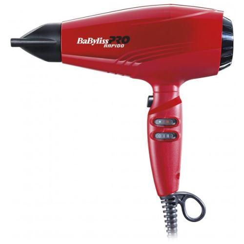 Sèche Cheveux Babyliss Pro Rapido Rouge Bab7000Ire