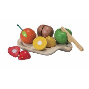 Dinette Assortiment de fruits à découper Plan Toys en bois