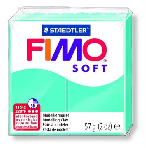 Pâte Fimo soft Bleu menthe poivrée 39 - 56 gr